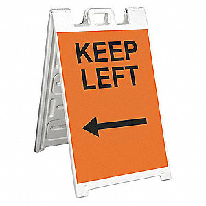 Barricade Sign,Keep Left/with Arrow
