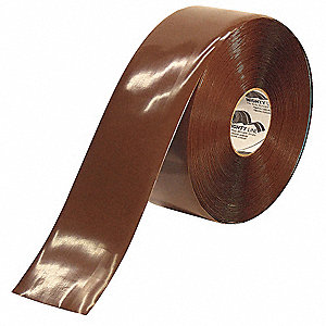 Industrial Floor Tape,Roll,Brown,Vinyl