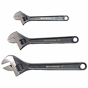 Adjustable Wrench Set, 3 Pieces