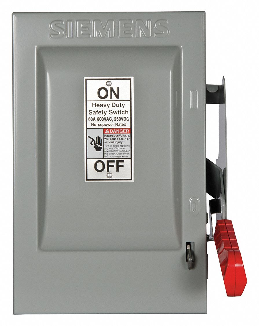 Siemens Safety Switch 1 Nema Enclosure Type 60 Amps Ac