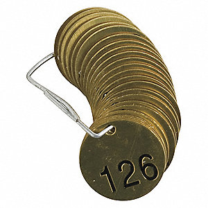 Numbered Tag Set,126 to 150,25 Tags