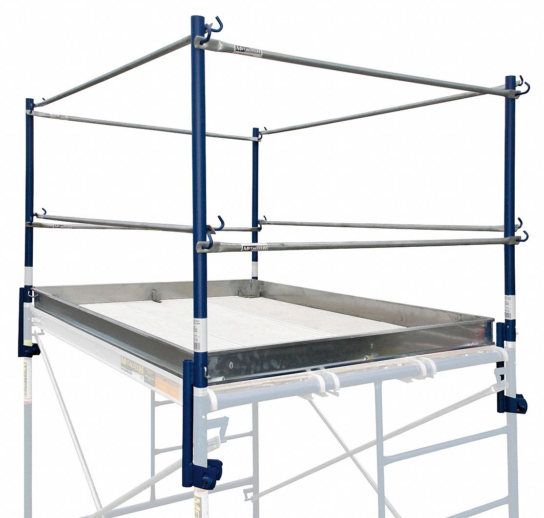 Metaltech scaffold tower guardrail system quot overall
