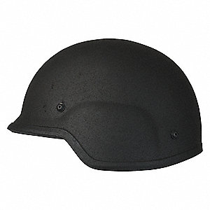 "Black Level IIIA PASGT Helmet Deluxe, Shell Material: Aramid, Pad Thickness: 1"", Fits Hat Size: 21-1"