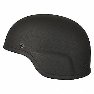 "Black Level IIIA ACH Helmet, Shell Material: Aramid, Pad Thickness: 1"", Fits Hat Size: 21-1/2"" to 22"