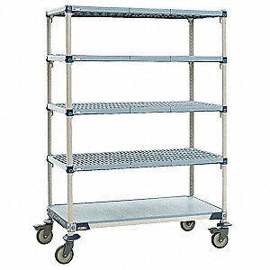 Utility Cart,Microban,36x24x80,5 Shelf