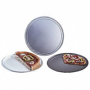 Pizza Pan,Wide Rim,17 In.