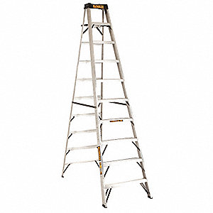 10 ft. 300 lb. Load Capacity Aluminum Stepladder
