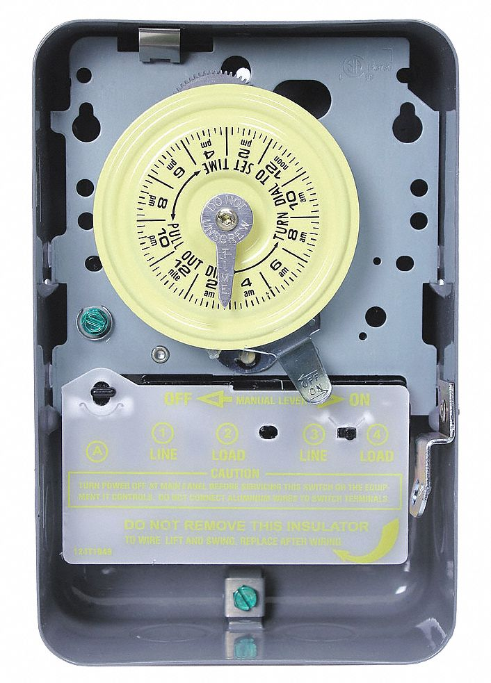 Intermatic Electromechanical Timer  120vac Voltage  40 Amps  Max  Time Setting  23 Hr