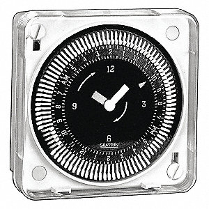 Electromechanical Timer, 24VAC Voltage, 21 Amps, Max. Time Setting: 6 days 22 hr.