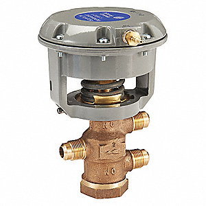 Pneumatic Flare Valve, Brass, 1/2 in.