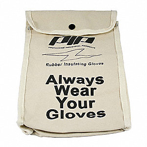 Protective Canvas Bag for Rubber Insulating Gloves, Natural, Canvas, 11 Length