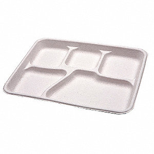 Cafeteria Tray,Natural,5 Comp,PK500
