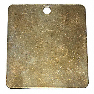 Blank Tag Square 2 In Brass,PK25