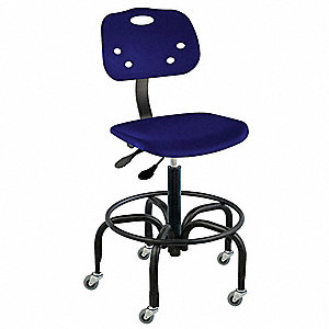 "ArmorSeat  Blue Ergonomic Chair, 19 to 26"" Seat Height Range, 350 lb. Weight Capacity"