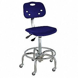 "ArmorSeat  Blue Ergonomic Chair, 19 to 26"" Seat Height Range, Polypropylene"
