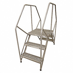 "Crossover Ladder, Steel, 40"" Platform Height, 9"" Span, Number of Steps 4"