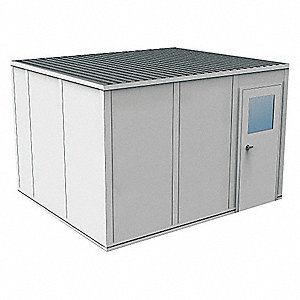 Modular InPlant Office,3Wall,10x12,Vinyl