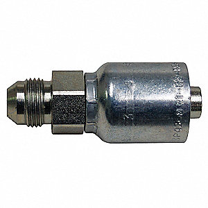 Hose Fitting,Male JIC,Straight,Hose 3/4