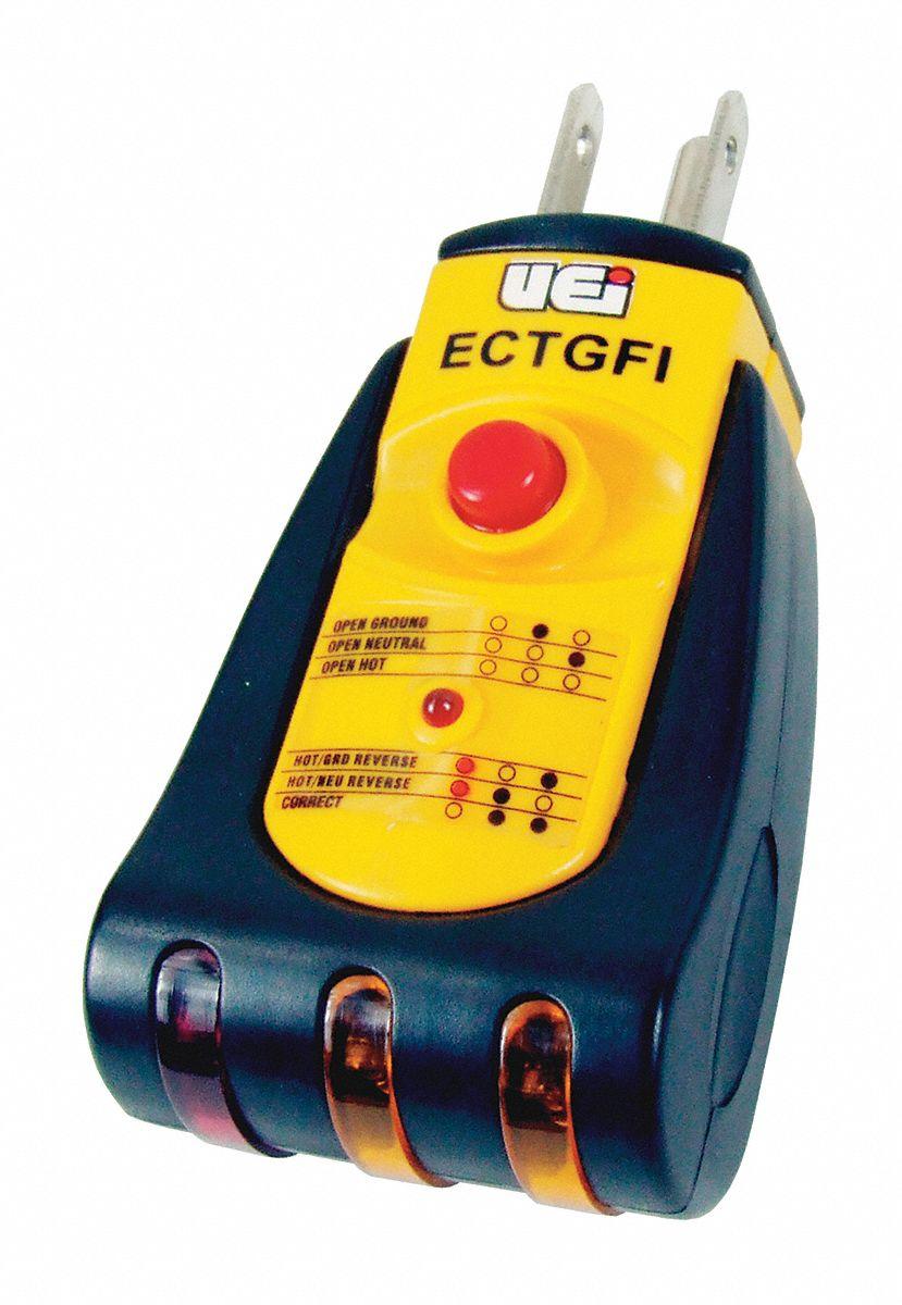 Ground Fault Indicator Testers : Uei test instruments ground fault indicator voltage ac