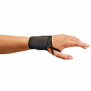 Black Wraparound Strap Wrist Support, Size: Universal, Fits All Sizes, Wrist: Ambidextrous
