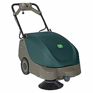 Battery Powered Sweeper,Walk Behind,24In