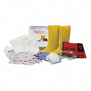 Biohazard Response Kit, Size:  L, Number of Components: 28