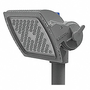 17,029 Lumens LED Floodlight, Metallic Titanium, LED Replacement For 400W HPS/MH