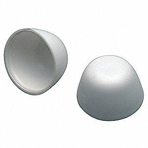 Plastic, Zinc Bolt Caps, White, For Use With Most Standard Floor Mount Toilet Fixtures, For Use With