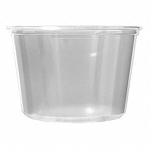 Deli Container,Clear,Polypropylene,PK500