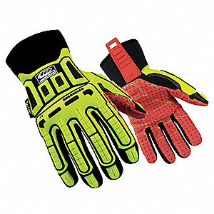 Cut Resistant Gloves, Hi-Vis Green, 2XL, PR 1