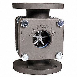 "Carbon Steel Window Sight Flow Indicator, 1-1/2"" Pipe Size, 150# Flange Connection Type"