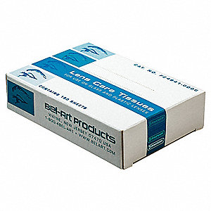 "Lens Care Tissues, Tissue Size 4-1/2"" x 5"", Tissue Count 180"