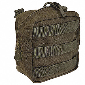 Pouch,Tac OD,Nylon,6 x 6 In