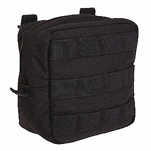 Padded Pouch,Black,Nylon,6 x 6 In