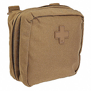 Med Pouch,Flat Dark Earth,Nylon,6 x 6 In