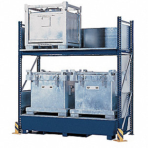 "Rack and Sump Combo, 120"" Height, 126"" Width, 20,000 lb. Load Capacity, Number of Shelves 2"