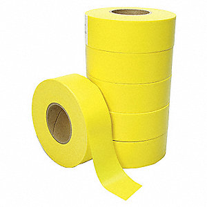 Flagging Tape,Yellow,Poly,300 ft,PK6