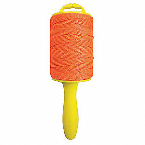 "Nylon Utility String, 1/20"" Rope Dia., 500 ft. Length, Orange"