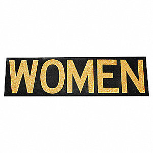 Restroom Sign,Women,Rubber/Adhesive