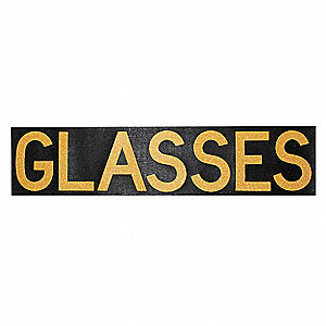 Facility Sign,Glasses,Rubber/Adhesive