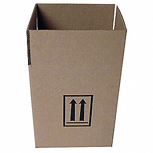 "Shipping Carton, Kraft, Inside Width 6"", Inside Length 8"", Inside Depth 10"", 95 lb., 1 EA"