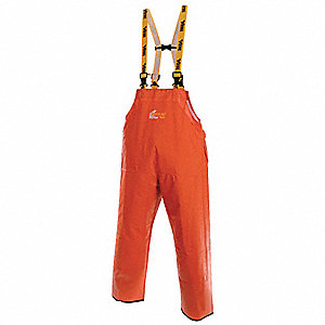 Rain Bib,Heavy Duty PVC,Orange,2XL