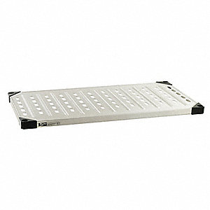 "Stainless Steel Louvered Shelf, 36"" Width, 21"" Depth, 800 lb. Capacity, Package Quantity 4"