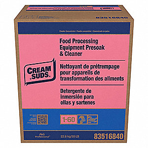 Powder Dishwashing Detergent, 50 lb. Box, 1 EA