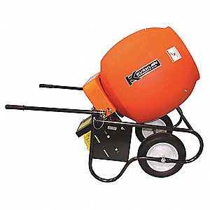 Wheelbarrow Mixer,3.5 cu ft,Gas,2HP