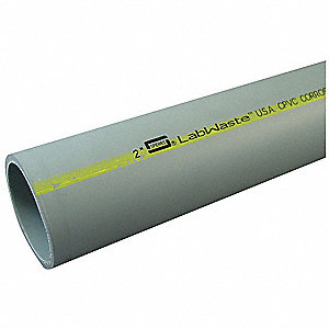 "6"" x 10 ft. CPVC Lab Waste DWV Pipe, Schedule 40, Non-Threaded"