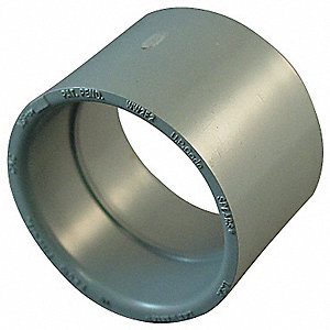 "CPVC Coupling, 2"" Pipe Size, Hub x Hub Connection Type"