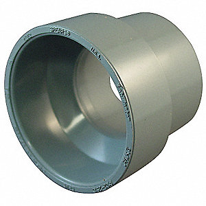 "CPVC Reducing Coupling, 3"" x 1-1/2"" Pipe Size, Hub Connection Type"