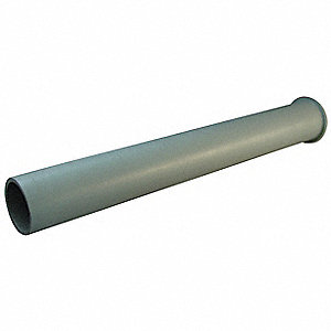 Tail Piece,1-1/2 x 12 In,CPVC,Gray