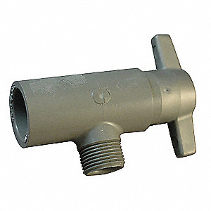 "CPVC Angle Valve, 1/2"" x 3/8"" Pipe Size, Socket X Compression Connection Type"
